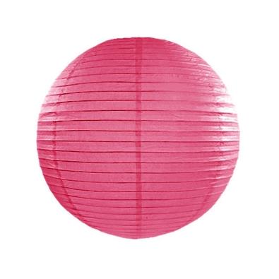 Boule de Papier Rose Fushia Lanterne 35 cm