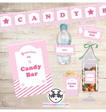 Printable Candy Bar Rose - Kit Printable Bar à Bonbons