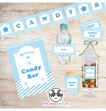 Printable Candy Bar Bleu - Kit Printable Bar à Bonbons