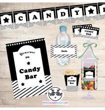 Printable Candy Bar Noir - Kit Printable Bar à Bonbons