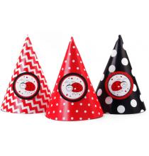 6 Chapeaux de Fête Thème Coccinelle Anniversaire