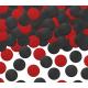 Confettis Pois Rouge et Noir