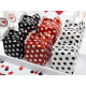 6 Boites Cadeaux Invités Rouge & Noir à Pois