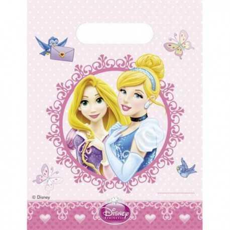 Sachets Cadeaux Plastique Invités Anniversaire Princesses Disney