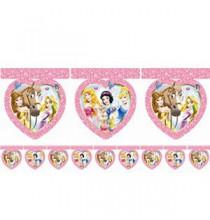 Banderole à fanions Coeurs Anniversaire Princesses Disney