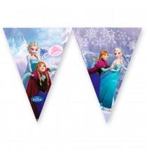 Banderole à Fanions Reine des Neiges Disney pour Anniversaire et Fête Elsa et Anna