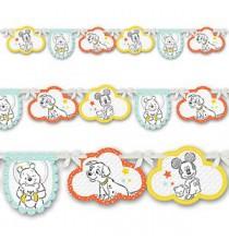 Banderole à fanions Disney Baby de fête