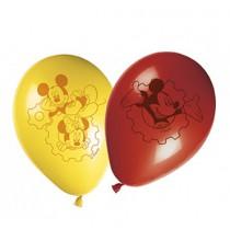 Ballons Latex Jaune et Rouge Mickey et ses Amis