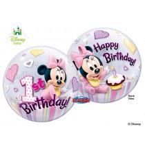 Ballon Bubble Baby Minnie Premier Anniversaire Disney Baby de fête