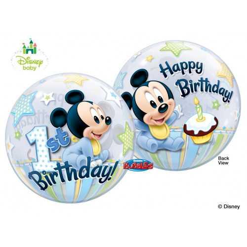 Ballon Bubble Baby Mickey Disney Premier Anniversaire Baby de fête
