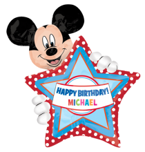 Ballon Personnalisable Etoile Anniversaire Mickey et ses Amis