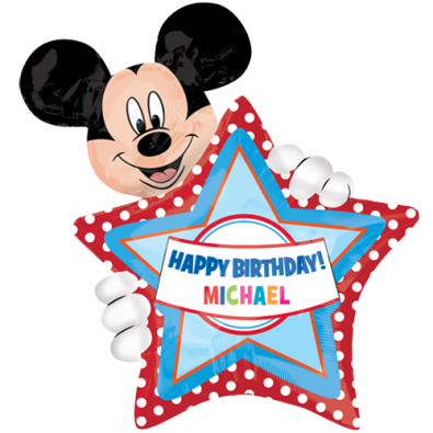 Ballon Alu Personnalisable Etoile Disney Mickey Mouse Anniversaire