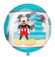 Ballon Bubble Mickey Premier Anniversaire Disney Baby de fête