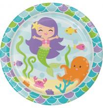 Grandes Assiettes Petite Sirène Happy Birthday