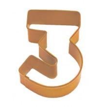 Emporte-Pièce Biscuit Chiffre 3 Trois