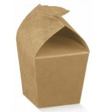 Boîte Conique à Dragées Carton Avana Marron Cadeau invité