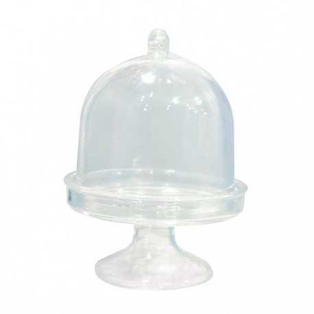 Mini Serviteur Cloche - Contenant à Dragées Transparent