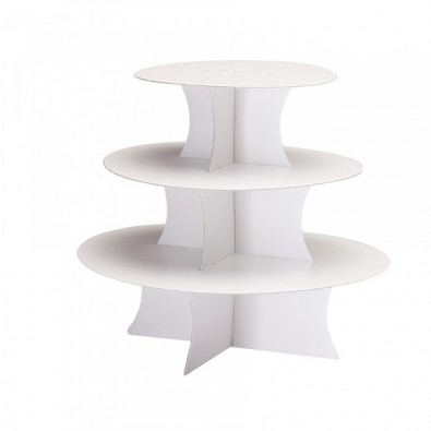 Lot de 2 Stands à Cup Cake Blanc Trois Etages