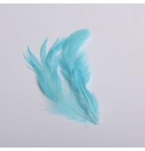 20 Plumes Bleues Décoration de fête