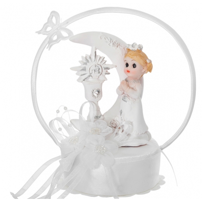 Figurine premier communion fille pour d coration de table - Decoration de table pour communion fille ...