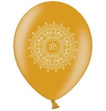 6 Ballons Premium latex dorés Décoration de Première Communion