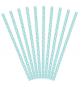 10 Pailles Rétro Pois Blanc sur Bleu