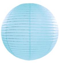 Boule de Papier Bleu Clair Lanterne 20cm