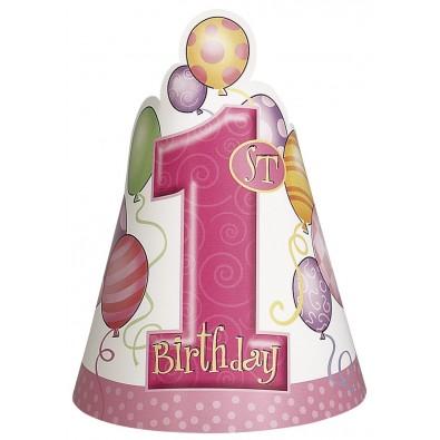 chapeau en papier pour c l brer le premier anniversaire de b b fille. Black Bedroom Furniture Sets. Home Design Ideas