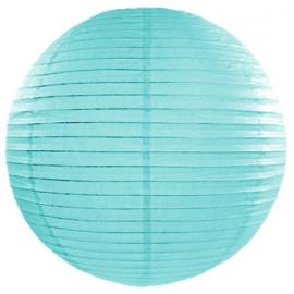 Boule de Papier Bleu Tiffany Lanterne 25 cm
