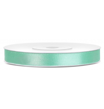 Ruban Satin 6mm fin Vert Mint