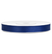 Ruban 6mm Satin Bleu Marine 25m