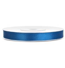 Ruban 6mm Satin Bleu Foncé 25m