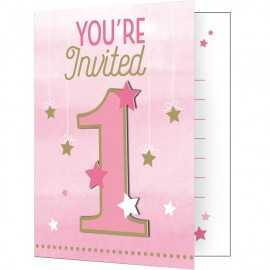 Invitation Premier Anniversaire Un An Premier Anniversaire Etoiles Little Star