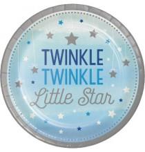Petites Assiettes Etoiles Little Star Bleu et Gris