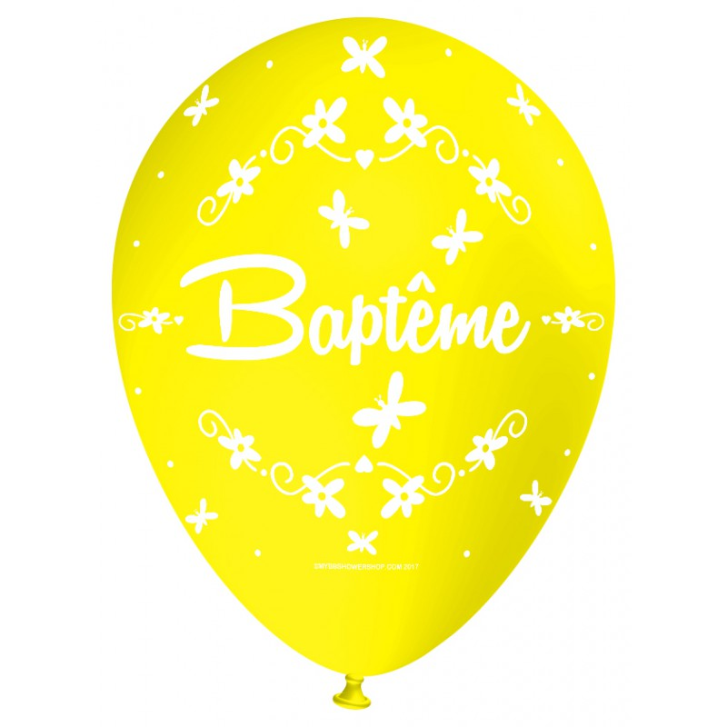 Ballon Latex D 233 Coration De Bapt 234 Me Jaune Nacr 233 D 233 Co De F 234 Te