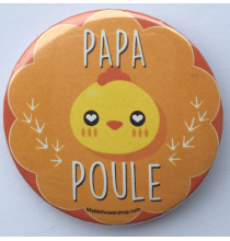 Badge Papa Poule