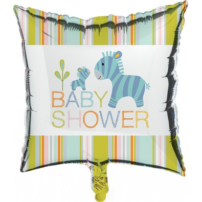 Ballon Alu Baby Shower Baby Animaux du Zoo