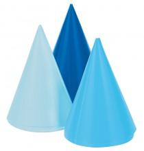 8 Mini Chapeaux Enfant Bleu assortis Mini Party