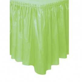 Jupe de table Plastique Vert Pastel Pomme Lavable