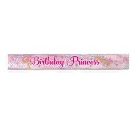 Banderole Anniversaire Princesses Rose et Doré