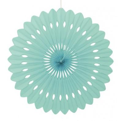 Rosace Eventail Vert Mint Pastel 40 cm Papier de Riz