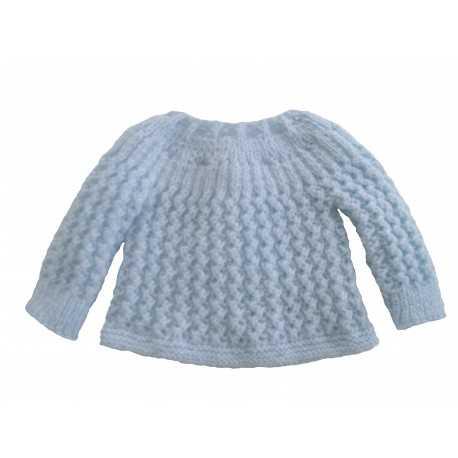Brassière Bleue en laine fait main