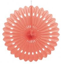 Rosace orange corail 40cm Papier de Riz