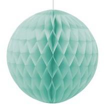 Boule Alvéolée Vert Mint Pastel 20cm Papier de Riz