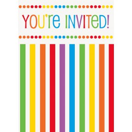 Invitation Fête à Thème Arc-en-ciel Collection Rainbow Party