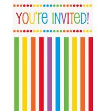 Invitation Fête à Thème Arc-en-ciel Collection Rainbow Party