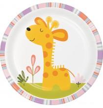 Petites Assiettes Girafe - Jungle Animaux du Zoo