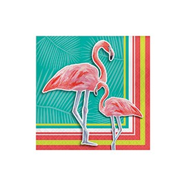 Grandes Serviettes Thème Flamingo Party Flamant Rose