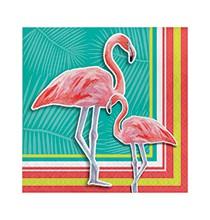 Grandes Serviettes Thème Flamingo Party Flamant Rose