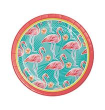 Petites Assiettes Thème Flamingo Party Flamant Rose